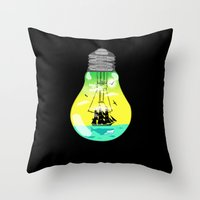 The idea of sailing the seas Throw Pillow