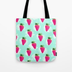 Watercolor Strawberry Tote Bag