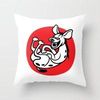 The Laughing Hyena Throw Pillow