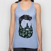 Cactus Beard Dude Unisex Tank Top