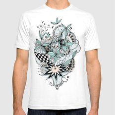 Soft summer SMALL Mens Fitted Tee White