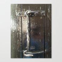 Iron Gate latch,  Canvas Print