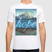 HOPE (1 Corinthians 13:1… Mens Fitted Tee Ash Grey SMALL