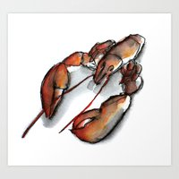 Red lobster Art Print