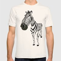 Zebra Mens Fitted Tee Natural SMALL