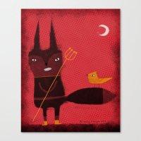 DEVIL FOX Canvas Print
