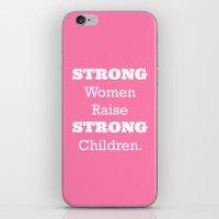 Strong Women - Pink.  iPhone & iPod Skin