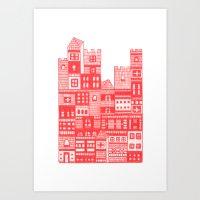 Tangerine Castle Art Print