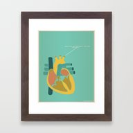 Aorta Tell You How Much … Framed Art Print
