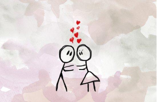 Kiss me ! Art Print