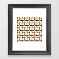 Autumn Pattern Framed Art Print
