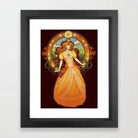 Daisy Nouveau Framed Art Print