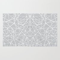 Abstract Lace on Grey Rug