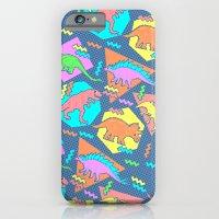 Nineties Dinosaur Pattern iPhone 6 Slim Case