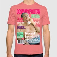 COSMARXPOLITAN, Issue 10 Mens Fitted Tee Pomegranate SMALL