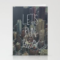 Let's Run Away To NYC Stationery Cards