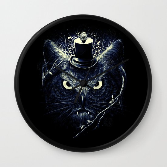 Meowl (Blue) Wall Clock