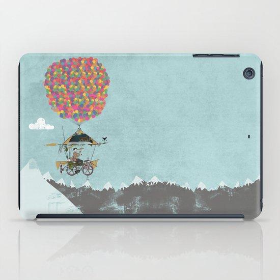 Riding A Bicycle Through The Mountains iPad Case