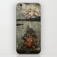 paper III :: octopus/ship iPhone & iPod Skin