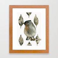 Grey Birdy Framed Art Print