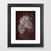 DARK ZEBRA Framed Art Print