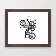 Bike Chaos Framed Art Print