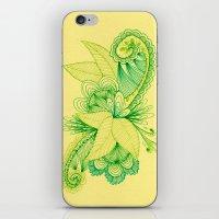 Green Arabesque iPhone & iPod Skin