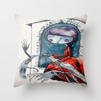 [picture of  bad dream ] Throw Pillow