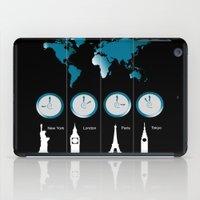 TIME ZONES. NEW YORK, LONDON, PARIS, TOKYO iPad Case