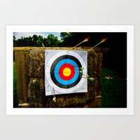 Approaching The Target Art Print