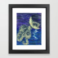 Noctopus Framed Art Print