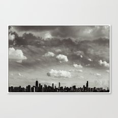 Chicago Skyline - Lone Cloud Canvas Print