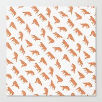 wild wolves pattern Canvas Print