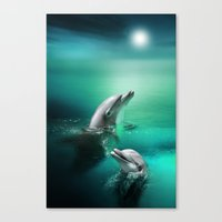 Dolphin Delights Canvas Print