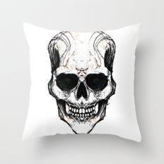 Skully #1 Throw Pillow