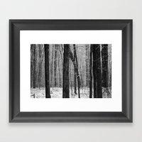 Far, Far Away Winter Day Framed Art Print