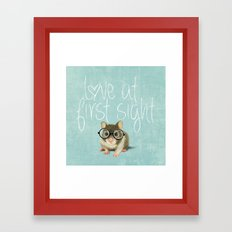 Little mouse in love Framed Art Print