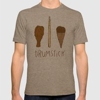 I LIKE DRUMSTICK Mens Fitted Tee Tri-Coffee SMALL