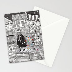 After Hours at the Christmas Market Stationery Cards