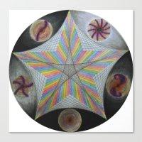Galactic Pentagram (ANAL… Canvas Print