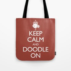 Keep Calm & Doodle On (Red) Tote Bag
