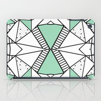 Ab Lines and Spots Mint iPad Case