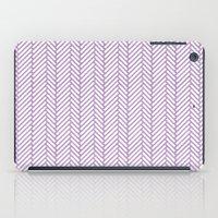 Herringbone Orchid iPad Case