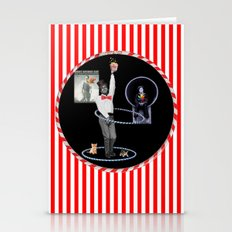 Paul Newman Hula Hoops (with kittens)  Stationery Cards