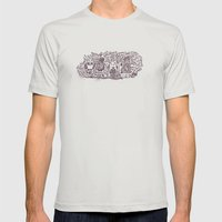You R A Hoot! Mens Fitted Tee Silver SMALL