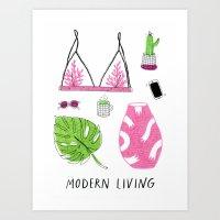 Modern Living Art Print