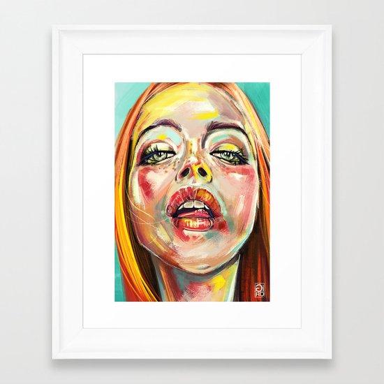 Summer Glowing Framed Art Print