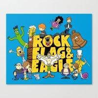 Rock, Flag & Eagle Canvas Print