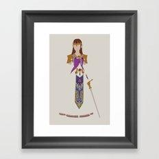 The Legend of Zelda - Princess Zelda Framed Art Print
