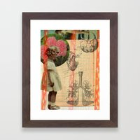body parts Framed Art Print